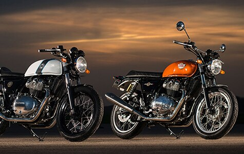 The Royal Enfield Interceptor INT 650 and Continental GT 650