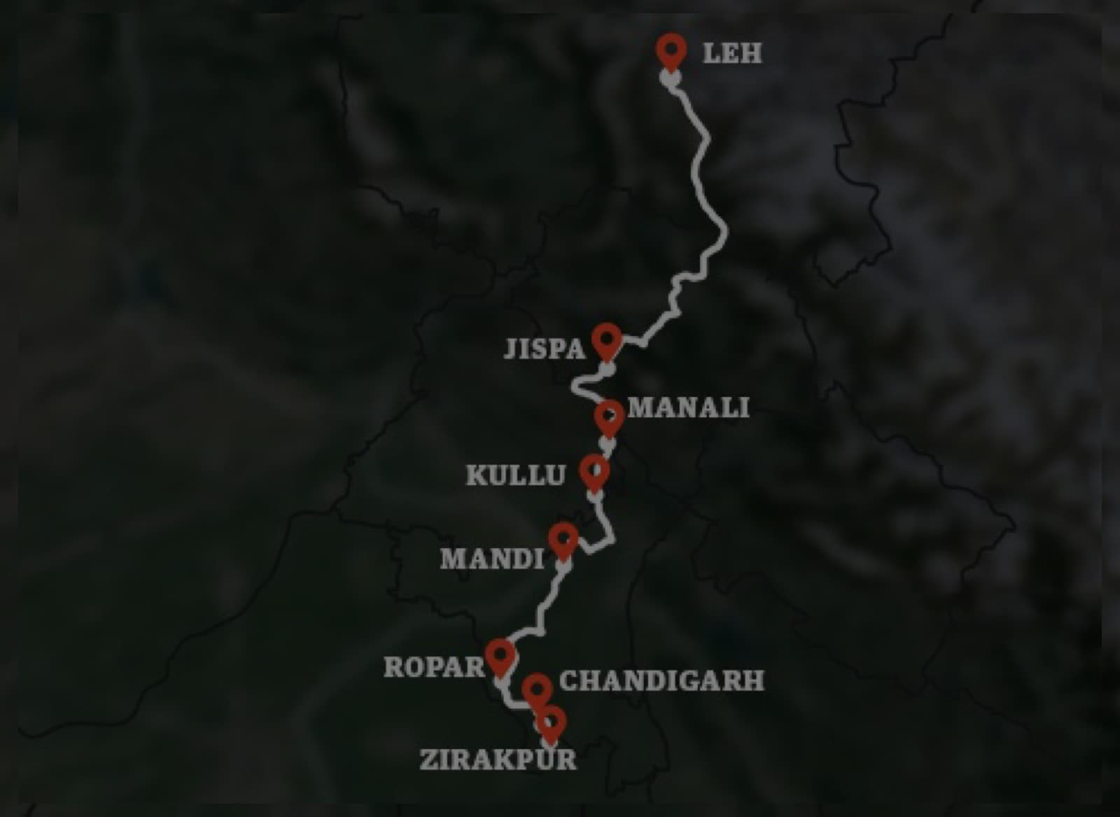 Route 3 - Zirakpur to Leh